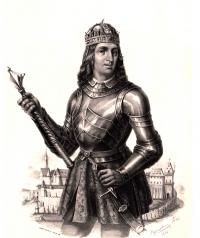 Mátyás király páncélban. Marastoni József rajza, 1855. Képek: Wikipédia