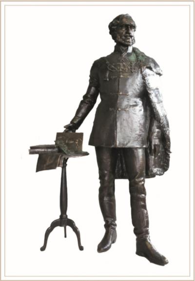 Széchenyi István 2018 március 15-én Szatmárnémetiben felavatott bronzszobra