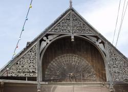 Ház oromzata Mákófalván